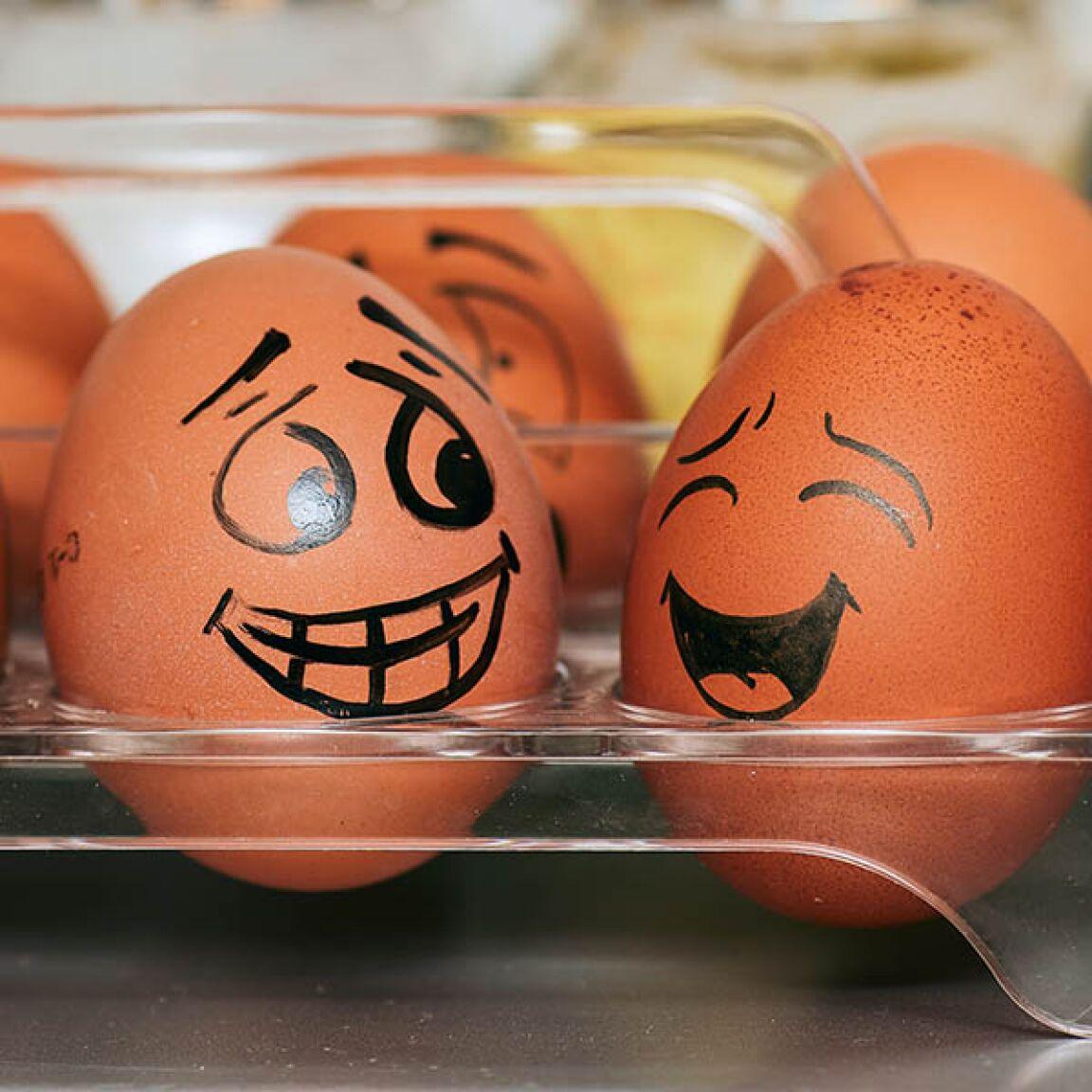 wieviel eier am tag